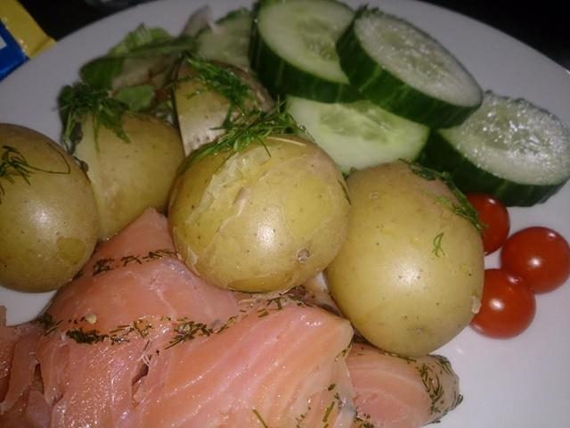 ekologisk potatis gurka egenodlad dill tomater